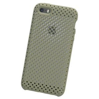 【iPhone SE ケース】エラストマー AndMesh MESH CASE Clay Green iPhone SE