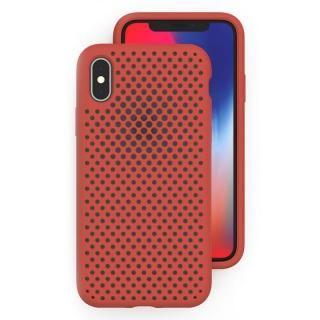 エラストマー AndMesh MESH CASE Terracotta iPhone X
