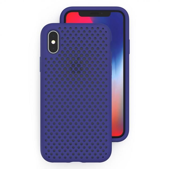 iPhone XS/X ケース エラストマー AndMesh MESH CASE Neo Blue iPhone XS/X_0