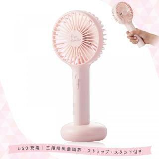 エレコム 手持ち ハンディ USB扇風機 充電式 卓上 2WAY ピンク