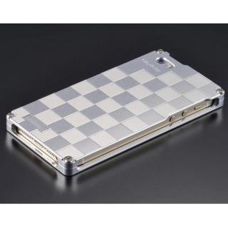 ソリッドケース 市松 for iPhoneSE/5s/5 シルバー