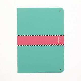 【Lucy】ツートン手帳型ケース グリーン iPad 2017/2018 9.7インチ