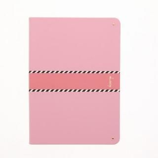 【Lucy】ツートン手帳型ケース ピンク iPad 2017/2018 9.7インチ