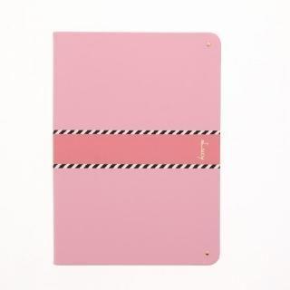 【Lucy】ツートン手帳型ケース ピンク iPad 2017/2018 9.7インチ【5月中旬】
