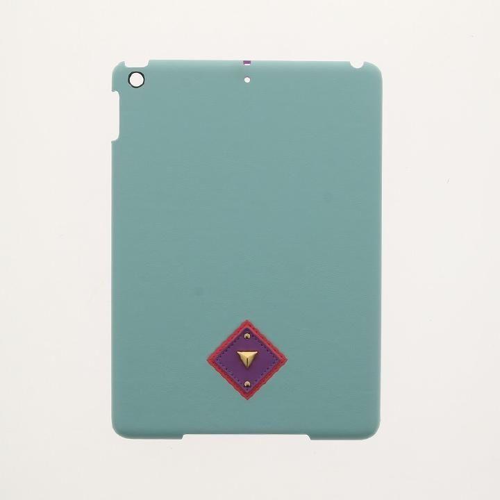 【Lucy】オルテガパターンPUレザーケース グリーン iPad 2017/2018 9.7インチ_0