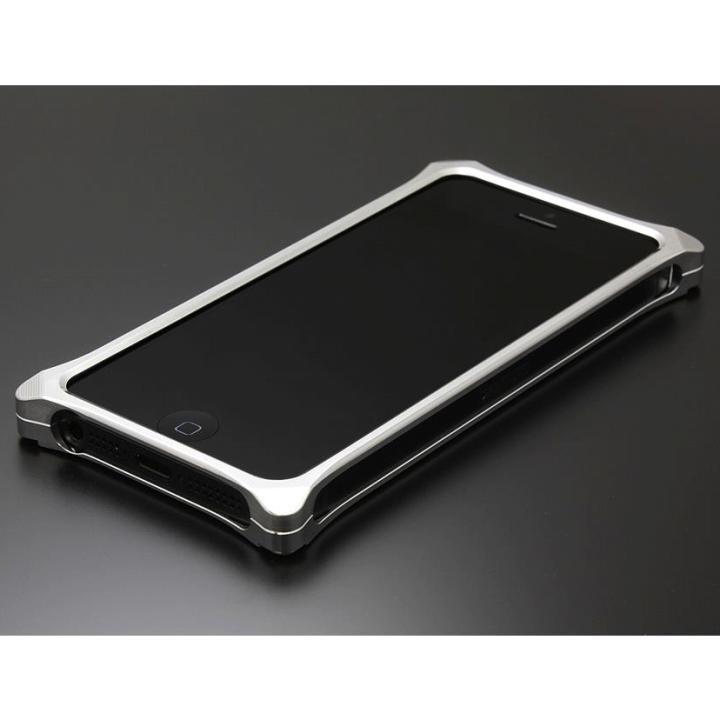 【iPhone SE/5s/5ケース】ソリッドバンパー for iPhoneSE/5s/5 シルバー_0
