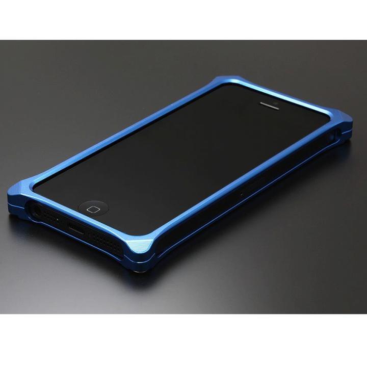 【iPhone SE/5s/5ケース】ソリッドバンパー for iPhoneSE/5s/5 ブルー_0
