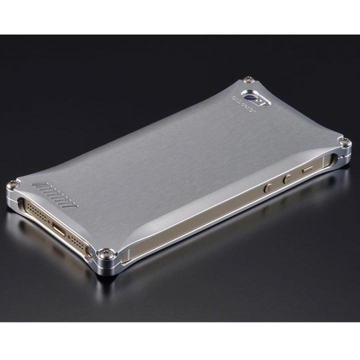 【iPhone SE/5s/5ケース】ソリッドケース for iPhoneSE/5s/5 シルバー_0
