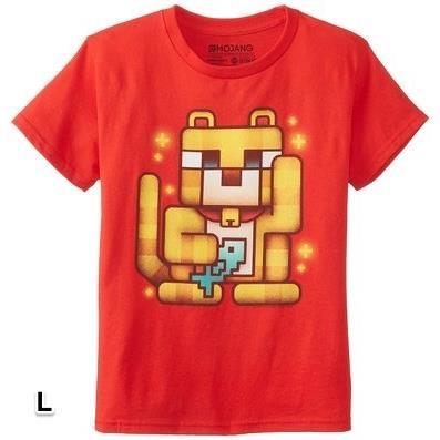 マインクラフト ラッキーオセロット Tシャツ Lサイズ_0