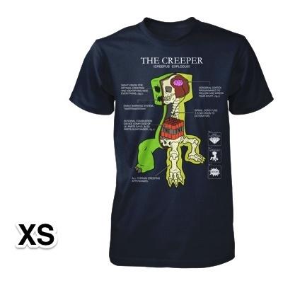 マインクラフト クリーパー解剖図 Tシャツ XSサイズ_0