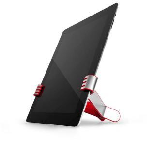 クリップ型タブレットスタンド TwoHands レッド iPad/iPad mini/Android