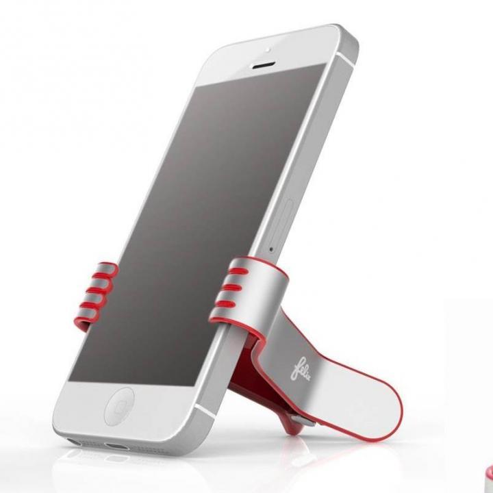 クリップ型スマートフォンスタンド SmallHands レッド iPhone 5s/5c/5/4s/4/Android_0