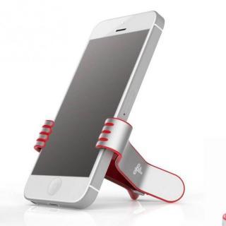 クリップ型スマートフォンスタンド SmallHands レッド iPhone 5s/5c/5/4s/4/Android