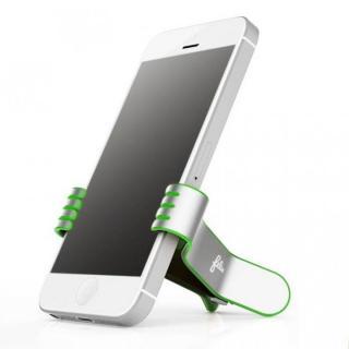 クリップ型スマートフォンスタンド SmallHands グリーン iPhone 5s/5c/5/4s/4/Android