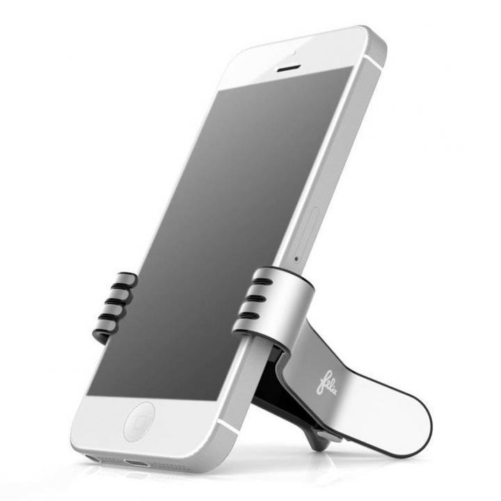 クリップ型スマートフォンスタンド SmallHands ブラック iPhone 5s/5c/5/4s/4/Android