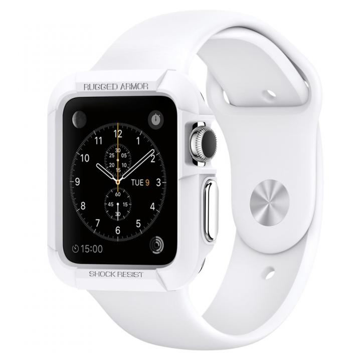 Spigen Apple Watch 42mm ラギットアーマーケース ホワイト_0