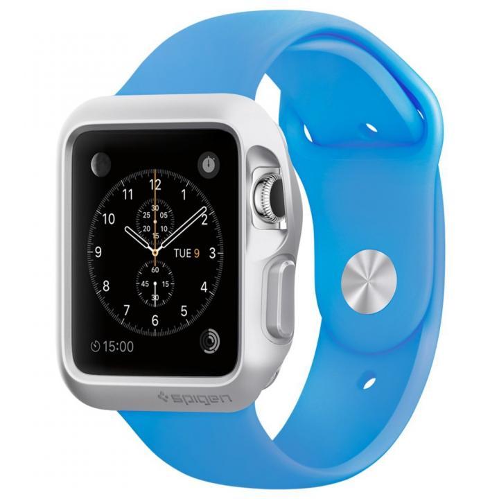 Spigen Apple Watch 42mm スリムアーマーケース シルバー_0