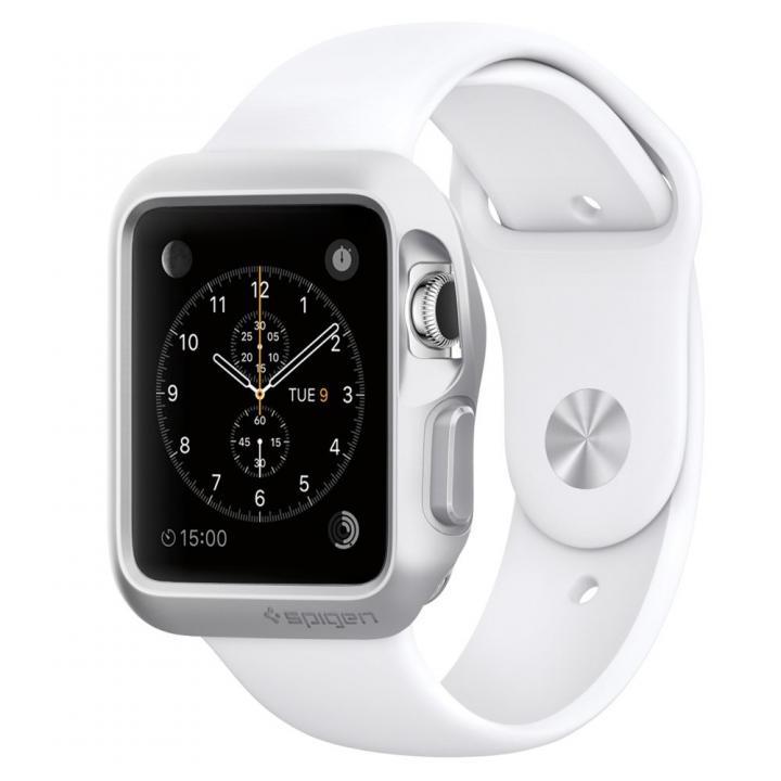 Spigen Apple Watch 38mm スリムアーマーケース シルバー_0