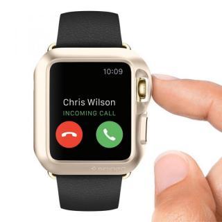 Spigen Apple Watch 42mm スリムアーマーケース ゴールド_1