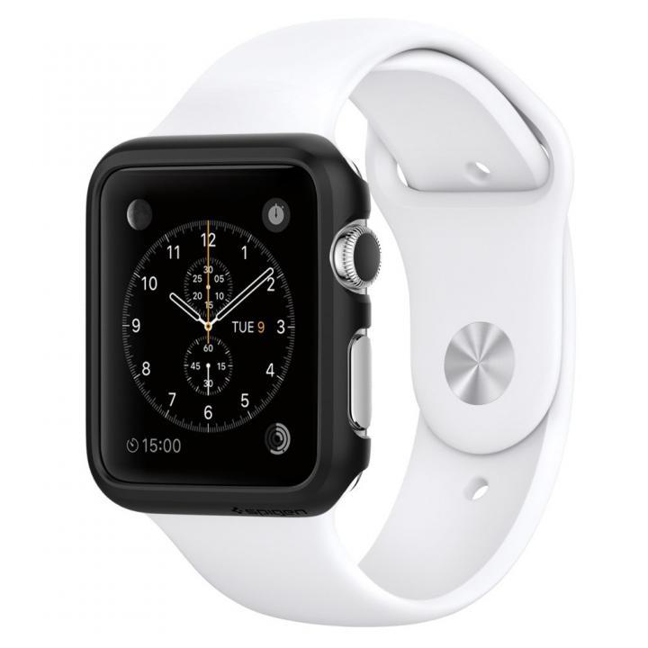 Spigen Apple Watch 38mm 薄型ハードケース スムースブラック_0
