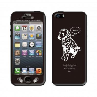 【iPhone SE/5s/5ケース】DOG Black  iPhone5