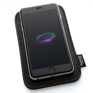 国立商店 職人が作るオイルドレザースリーブ ルーズフィットモデル ブラック×レッド iPhone 6ケース