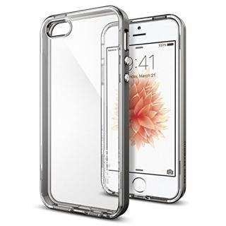 iPhone SE/5s/5 ケース Spigen ネオ・ハイブリッド クリスタル 耐衝撃ケース ガンメタル iPhone SE/5s/5