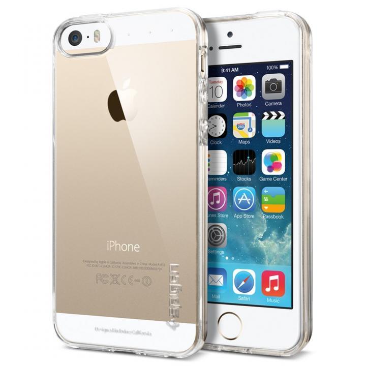 iPhone SE/5s/5 ケース Spigen リキッド・アーマー TPUケース クリスタルクリア iPhone SE/5s/5_0