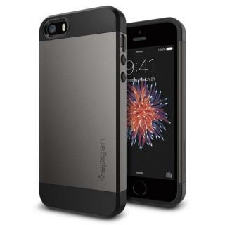 Spigen スリム・アーマー 耐衝撃ケース ガンメタル iPhone SE/5s/5