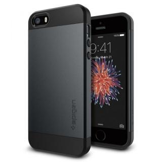 Spigen スリム・アーマー 耐衝撃ケース メタルスレート iPhone SE/5s/5