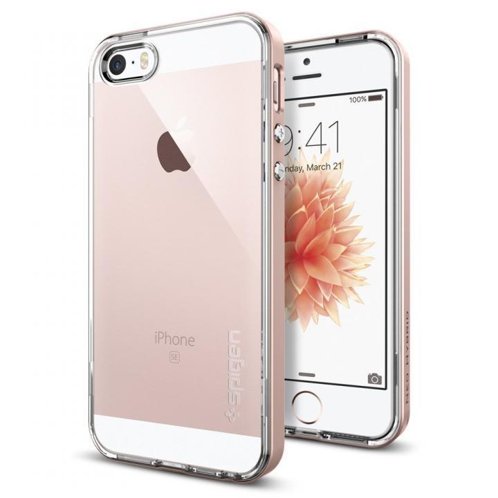 Spigen ネオ・ハイブリッド クリスタル 耐衝撃ケース ローズゴールド iPhone SE/5s/5