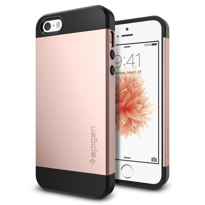 【iPhone SE/5s/5ケース】Spigen スリム・アーマー 耐衝撃ケース ローズゴールド iPhone SE/5s/5_0