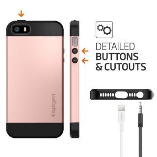 【iPhone SE/5s/5ケース】Spigen スリム・アーマー 耐衝撃ケース ローズゴールド iPhone SE/5s/5_4