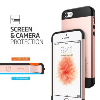 【iPhone SE/5s/5ケース】Spigen スリム・アーマー 耐衝撃ケース ローズゴールド iPhone SE/5s/5_5