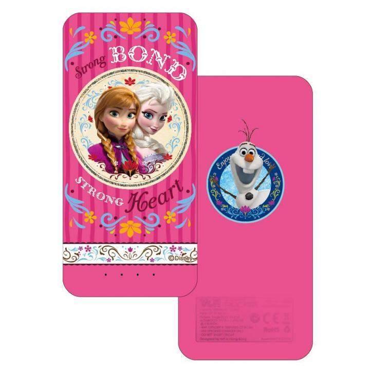 [6,000mAh] アナと雪の女王 ディズニー モバイルバッテリー ピンク(アナ&エルサ)_0