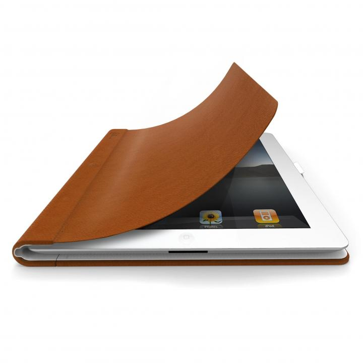 スタンド機能付き レザーケース FlipBook ブラウン iPadケース 送料無料