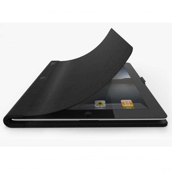 22段階に調整 レザーケース FlipBook ブラック iPadケース_0