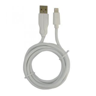 [新iPhone記念特価][2m] タフで切れにくい!硬性コネクタ&強化メッシュ Lightningストロングケーブル ホワイト