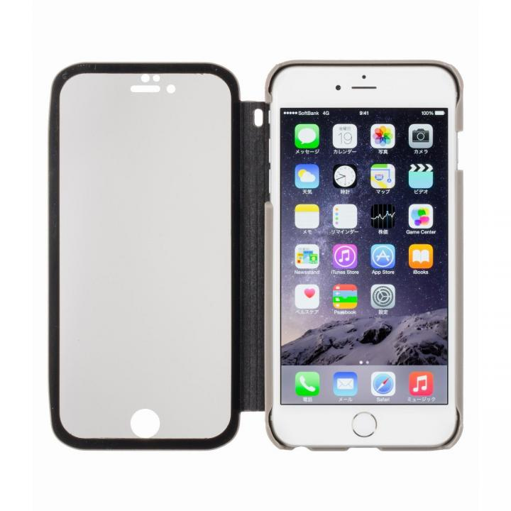 iPhone6 Plus ケース 覗き見防止スクリーン一体型手帳型 グレー iPhone 6 Plus_0