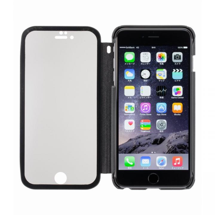【iPhone6 Plusケース】覗き見防止スクリーン一体型手帳型 ブラック iPhone 6 Plus_0