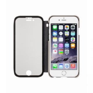 覗き見防止スクリーン一体型手帳型 グレー iPhone 6