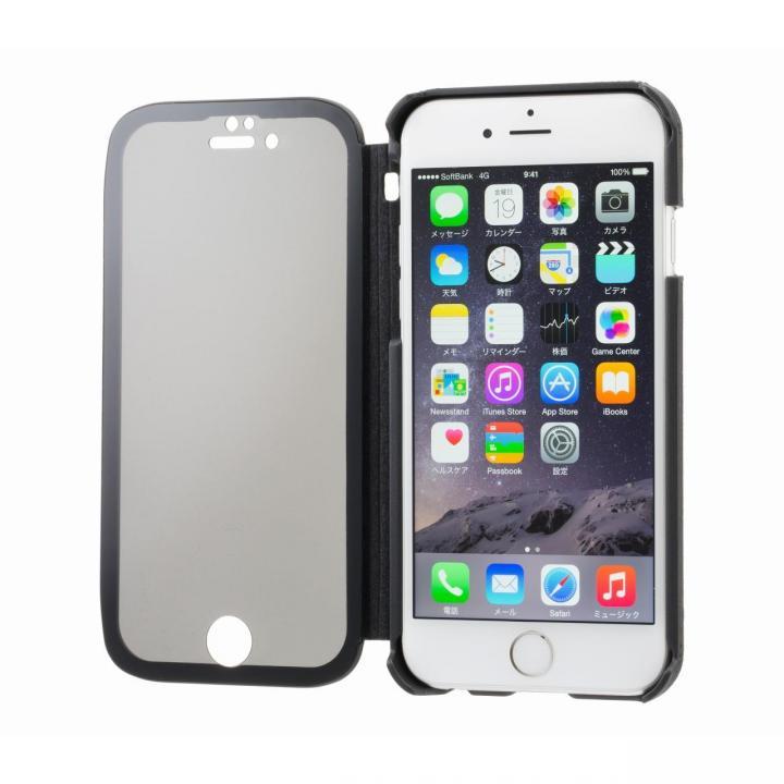 覗き見防止スクリーン一体型手帳型 ブラック iPhone 6