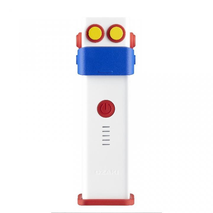 [2,600mAh] ロボット型モバイルバッテリー OZAKI O!tool ホワイト 送料無料