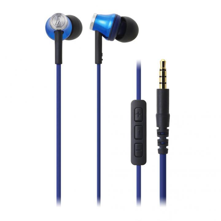 オーディオテクニカ iPod/iPhone/iPad専用イヤホン ブルー