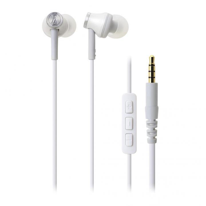 オーディオテクニカ iPod/iPhone/iPad専用イヤホン ホワイト_0