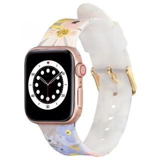 Rifle Paper Co. Apple Watch バンド Marguerite for Series 1-6、SE 38-40mm