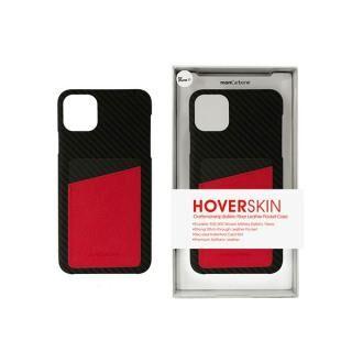 iPhone 11 Pro ケース HoverSkin フルカーボンケース ステルスブラックwithサフィアーノ レッド iPhone 11 Pro