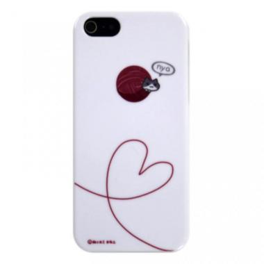 iPhone5 にゃいふぉんケース けいとだま桃
