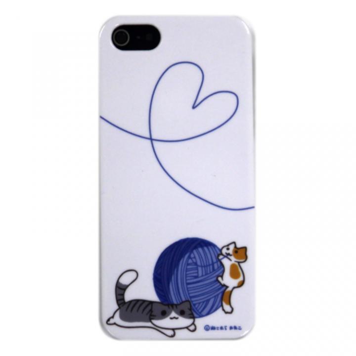【iPhone SE/5s/5ケース】iPhone5 にゃいふぉんケース けいとだま青_0