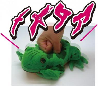 ジョジョの奇妙な冒険 拳で押すとメメタァと鳴く!カエルぬいぐるみ_1